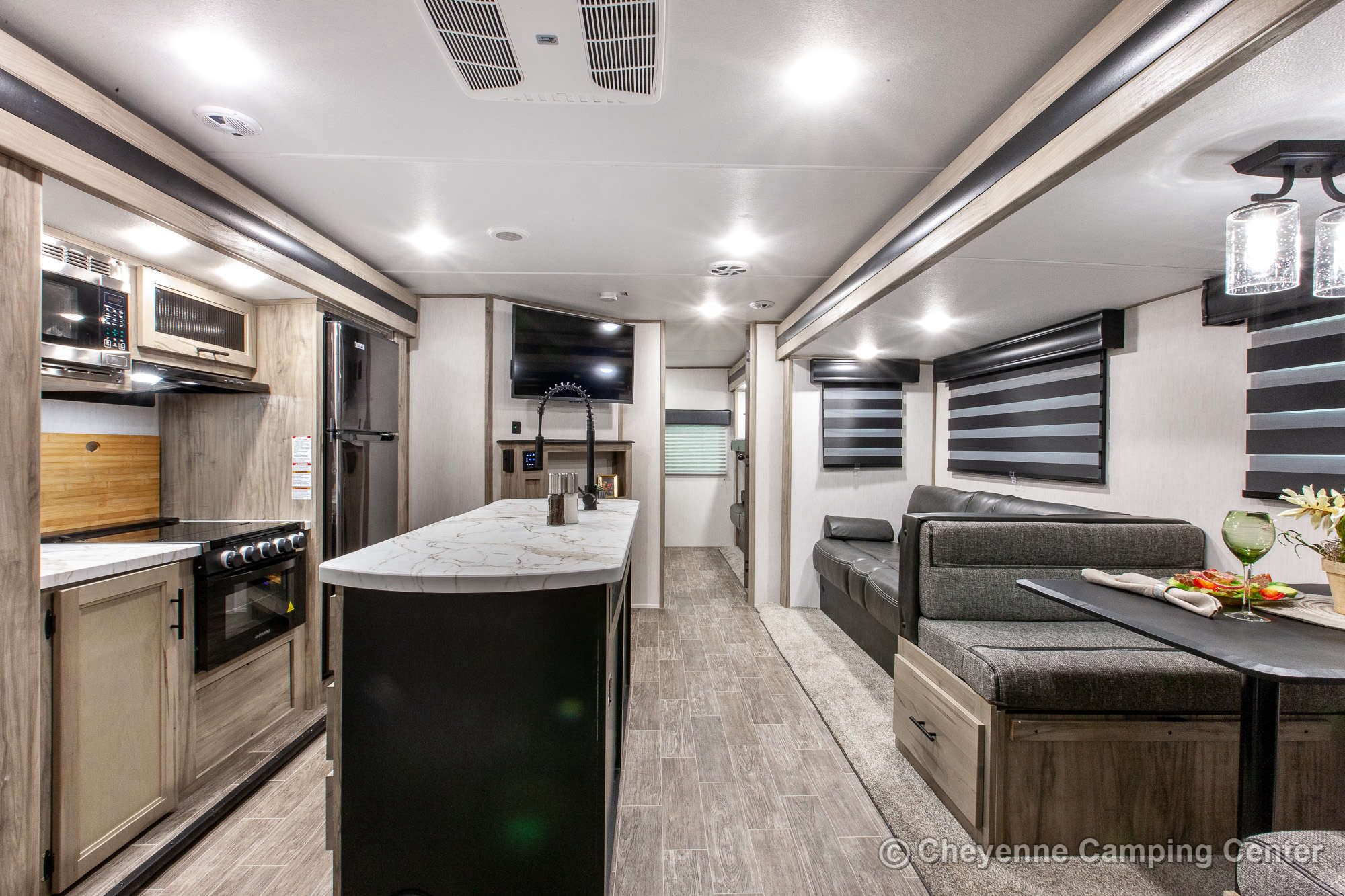 2022 Forest River Cherokee Alpha Wolf 33BH-L Bunkhouse Travel Trailer Interior Image