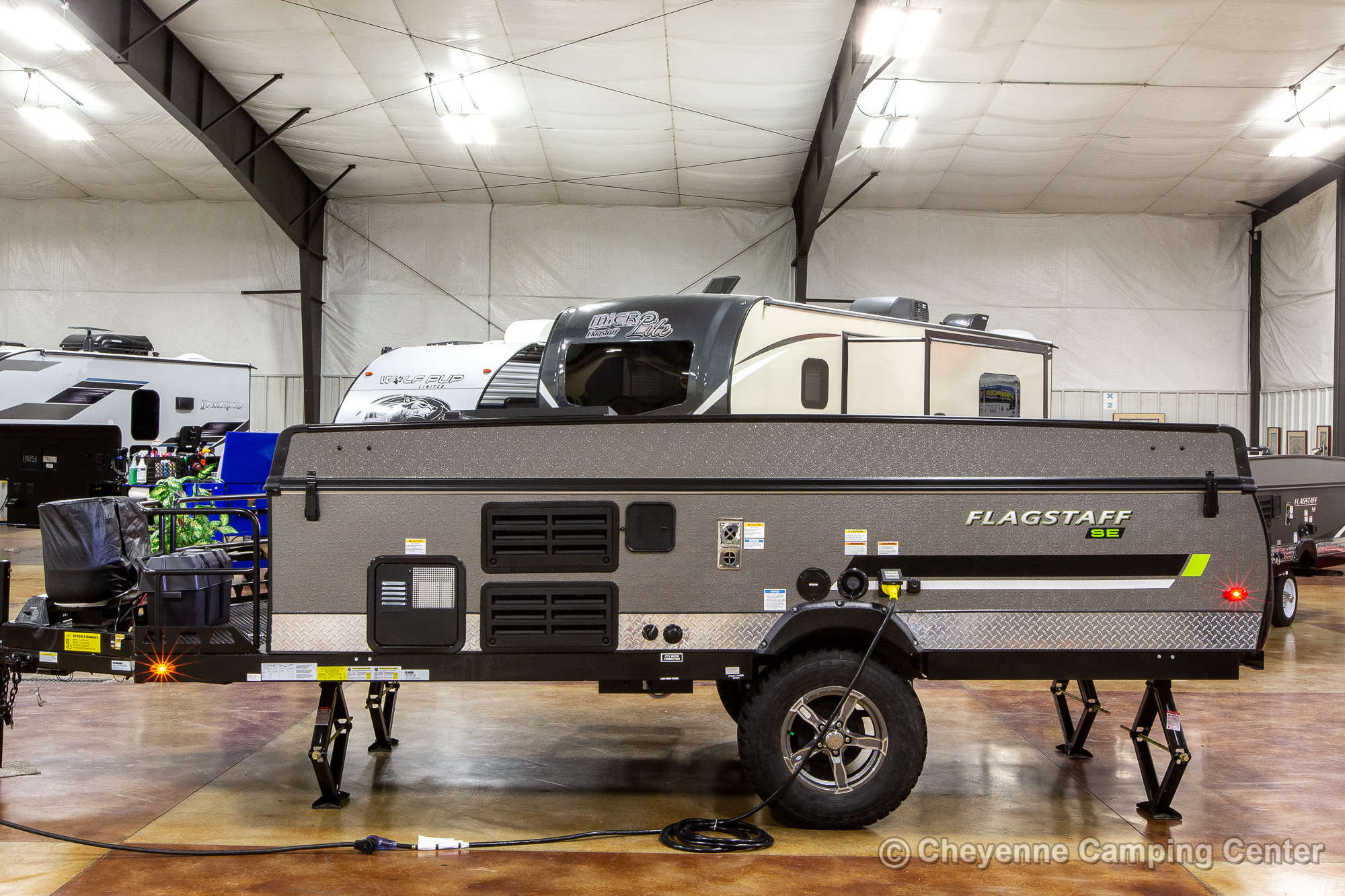 2022 Forest River Flagstaff Sports Enthusiast 228BHSE Folding Camper Exterior Image