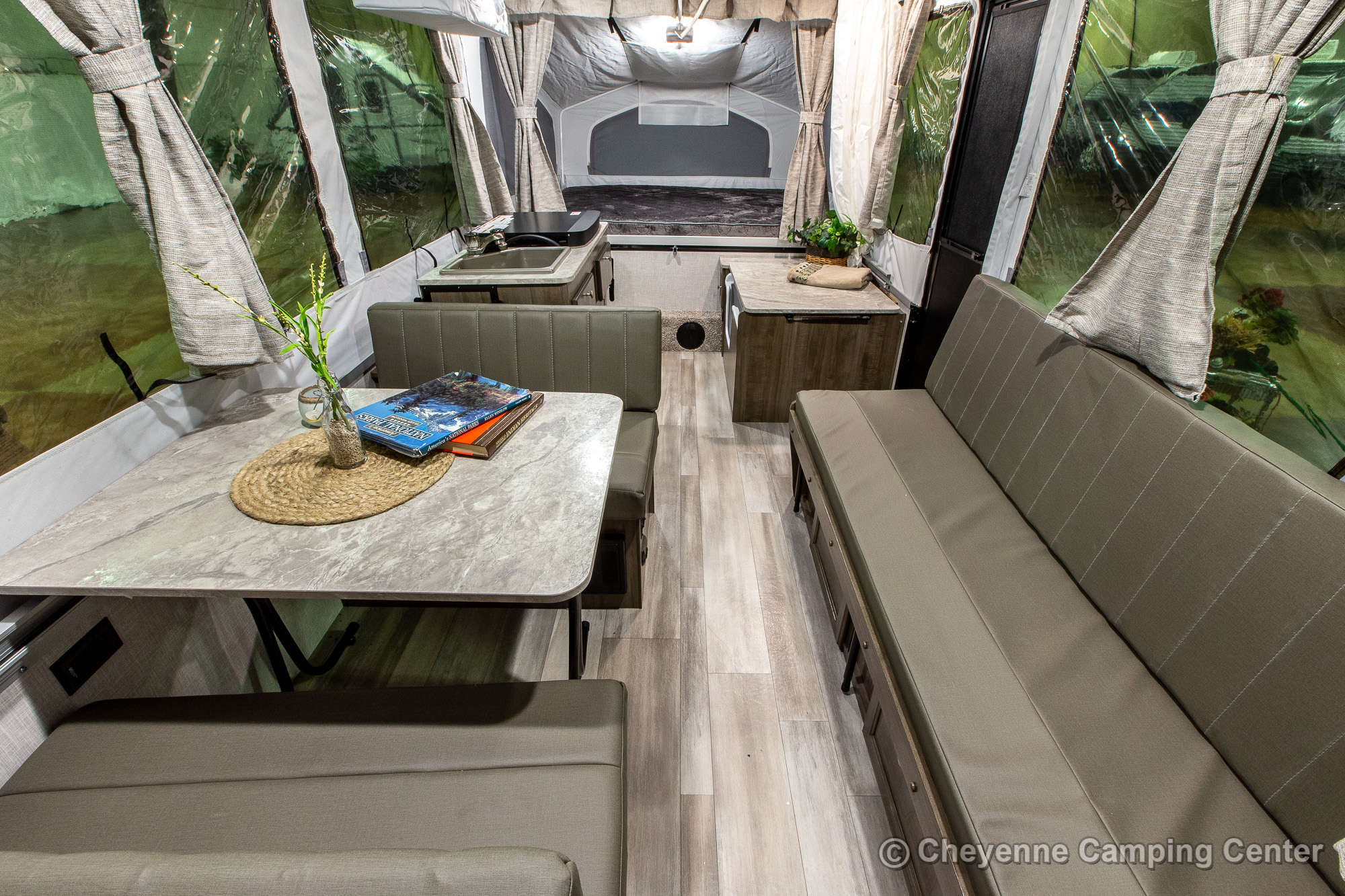 2022 Forest River Flagstaff Sports Enthusiast 228BHSE Folding Camper Interior Image